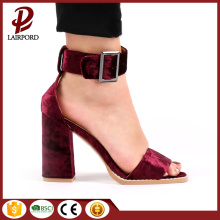 hot sale sweet high-heeled suede sandals