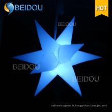 Événement Fête de mariage Noël LED Lighted Inflatable Decoration Star