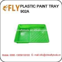Grüner Kunststoff-Farbkasten