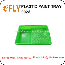 Зеленая пластиковая ванночка для краски