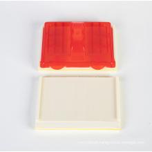 Sponge brush with plastic block