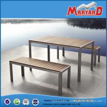 Популярная уличная мебель из тикового дерева деревянные скамьи & стол