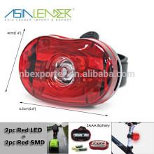 Питание от 2 * AAA батареи Flash-освещение велосипеда задний свет