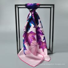 Mode Fabrik Verkauf von 90 * 90 Seidenschal Frauen Seide muslimischen quadratischen Schal