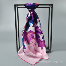 Fashion factory selling 90 *90 silk scarf women silk muslim square scarf