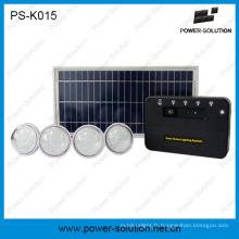 8W outre de système d'énergie solaire de grille avec des ampoules de 4PCS LED