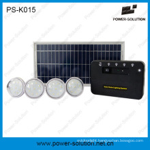 8W off Grid Solar Energy System with 4PCS LED Bulbs