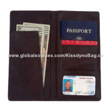 Passport Holder, Black Leather Cover Credit Card ID License Travel Wallet Book