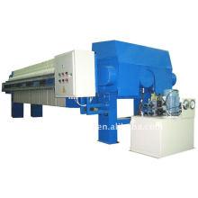 Prensa de filtro de cámara con placa de filtro empotrada hidráulica, cambio de placa de filtro manual, prensa de filtro semiautomática de cierre hidráulico