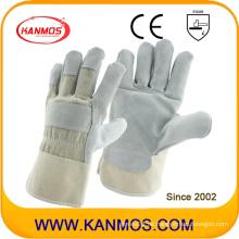 Grau Arbeitsschutz Rindsleder Handgelenk Handschuhe (11003)