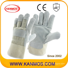 Gray Industrial Safety Cowhide Split Leather Hand Work Gloves (11003)