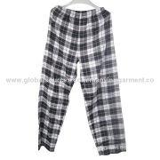 Men's check casual pants, elastic band waistband, provide OEM service
