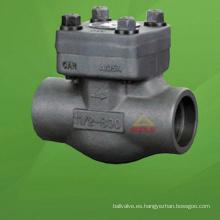 Válvula de retención de pistón de acero compacta (GAH61H)
