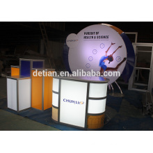 Lighting box Counter showroom display trade show exhibition display booth