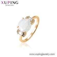 15455 xuping venta caliente último diseño de piedras preciosas funky anillo para las mujeres