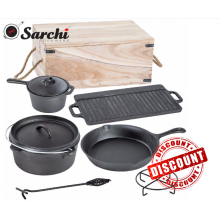 Pre-seasoned Cast Iron Cookware Set For Camping