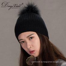 Sombrero hecho punto invierno barato y de la moda de la gorrita tejida Pom
