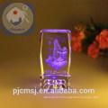 Cube en cristal de laser de vente chaude 3D pour le cadeau favorise CL-003