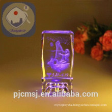 Hot sale 3d laser crystal cube for gift favors CL-003