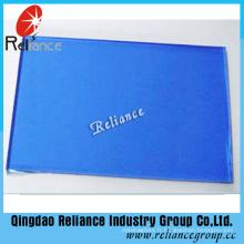 Verre teinté bleu foncé de 6 mm utilisé pour la construction