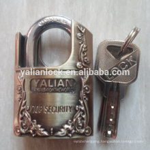 professional shackle half protected zinc alloy padlock with atomic key