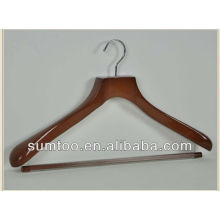 Chrome Hook Non Slip Bar Reliable Quality Wood Hanger For Clothes