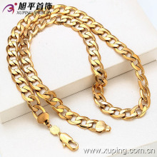 Chine en gros Xuping spécial prix 18k plaqué or hommes collier
