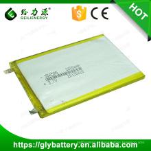 Alta capacidade inteligente 2600 mah 356595 3.7 v Li-ion bateria de polímero li-ion bateria