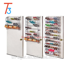 Shoe Rack Specific Use and steel pipe+ pp plastic parts,Plastic Material wall mounted shoe racks