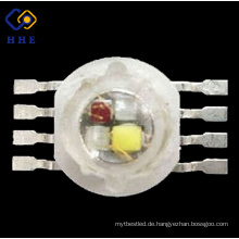Leuchtdiode 8 Pin 4 Chips in einem Rot Grün Blau Weiß 1 Watt High Power LED RGBW Chip