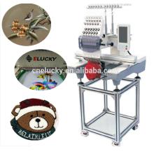 Máquina de bordar computadorizado de cabeça única de venda única para boné de beisebol / sapatos de esportes / bordado de t-shirt com ISO, SGS
