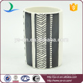 4pcs Ceramic White And Black Oil Painting Effect Toothbrush Holder For Bathroom
