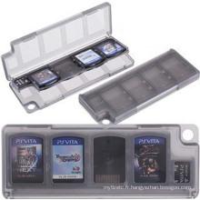 10 en 1 HEPD Matériau Boîte de Rangement Boîte à Carte pour Sony PS VITA PSV 1000 2000 Mémoire Titulaire Cartouche