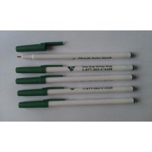Pena de bola plástica barata da vara para o presente relativo à promoção da propaganda do logotipo