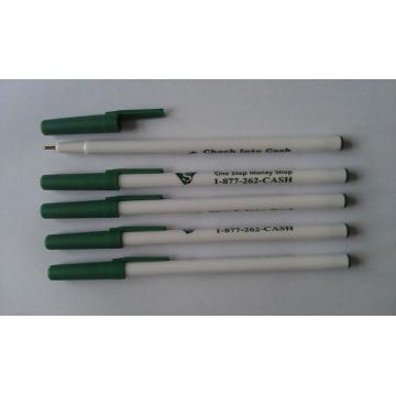 Preiswerter Plastikstock-Kugelschreiber für Logo-Werbungs-Werbungs-Geschenk
