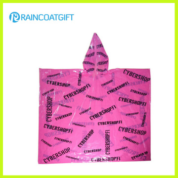 Poncho de lluvia PE desechable barato impresión Allover
