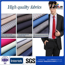polyester rayon blend fabric tr suiting 65/35 plain fabric from china