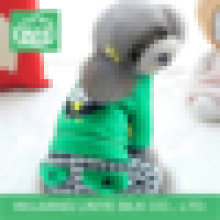 green plaid dog clothes , factory dog clothing
