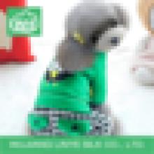 Ropa verde del perro de la tela escocesa, ropa del perro de la fábrica
