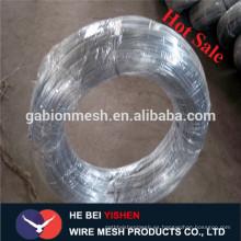 Hilo de hierro galvanizado eléctrico / caliente