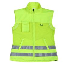 High Visibility Sleeveless Reflective Safety Vest