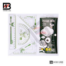 Colorful Animal Plastic Ruler Office Stationery Set