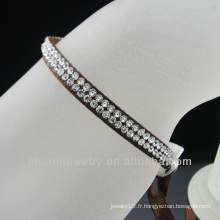 2013 bijoux fantaisie bracelets en strass avec strass