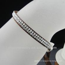 2013 costume jewelry ribbon bracelets with rhinestone