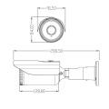 Câmera do CCTV de 5MP AHD / CVI / TVI com a lente da distância de uma longa distância do zumbido de 5-50mm 10x