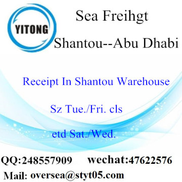 Shantou Port LCL Consolidation To Abu Dhabi