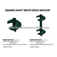 Pivotes ou âncora helicoidal de eixo quadrado galvanizado a quente