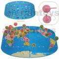 Brinquedo de mapa do mundo de madeira (81433)