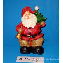 Papai Noel decorativo natal com árvore do feriado