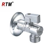 Válvula de ângulo de duas vias válvula cromada de água do banheiro